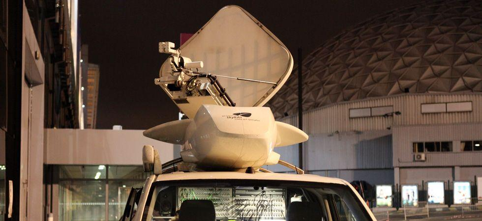 location prestation car mobile SNG DSNG Globecast reportages